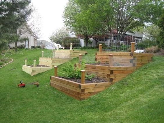 How To Landscape A Steep Slope On A Budget - Raised Vegetable Beds