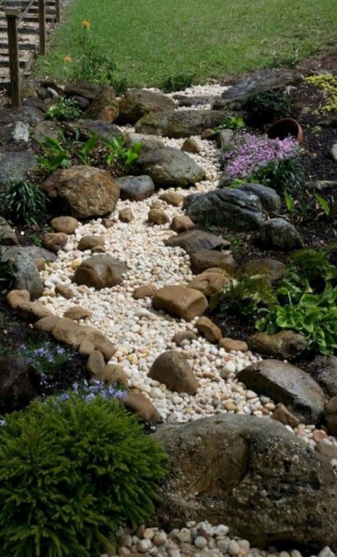 DIY Front Yard Landscaping Ideas On A Budget - Rocks