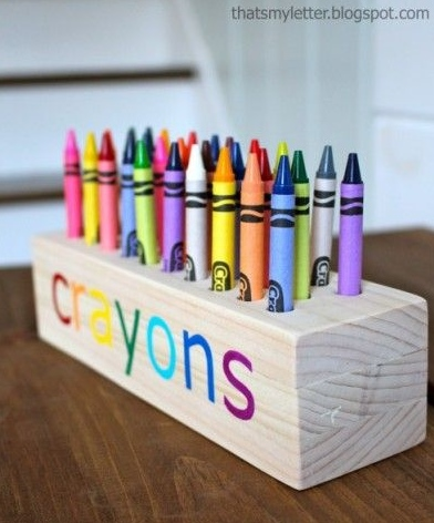 Woodworking Projects For Kids - DIY Crayon Holder