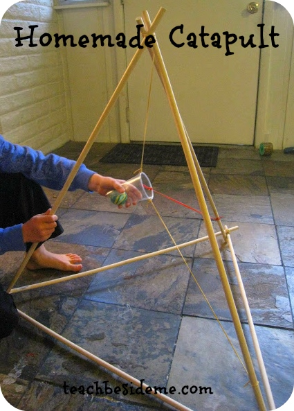 Woodworking Projects For Kids - Homemade Catapult