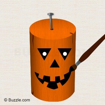 Woodworking Projects For Kids - Wooden Pumpkin Heads